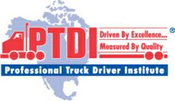 Web-quality logo of the Professional Truck Driver Institute (PTDI)